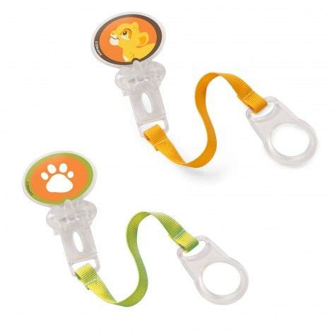 Simba Pacifier Holder With the king pacifier holder by born free king
