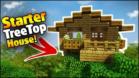 minecraft 1 8 mcstacker minecraft treetop starter house tutorial how to build a