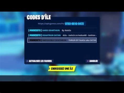 parcours de nokss avec leurs codes sur fortnite battle