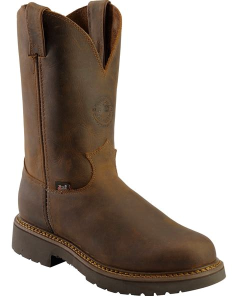 justin rugged gaucho justin rugged bay gaucho j max pull on work boots toe sheplers