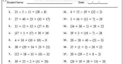 Printable Order Of Operations Worksheets With Answers