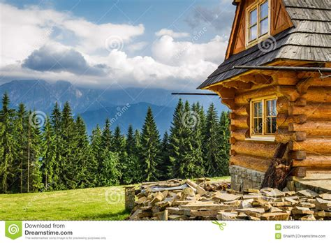 cottages in the mountains rural cottage in the mountains royalty free stock photo