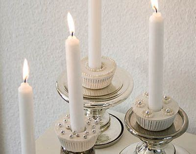 shabbat candle holders diy how to make a cupcake candle holder from plaster plaster cupcake candle and diy cupcake