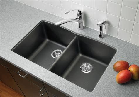 Blanco Black Granite Sink by Blanco Silgranit Kitchen Sinks Kitchen Sinks Houston