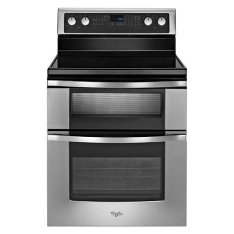 whirlpool wge555s0bs 30 quot stainless steel smooth top