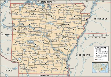 map arkansas state and county maps of arkansas