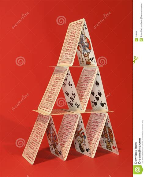 how to make a card tower card tower royalty free stock image image 718496
