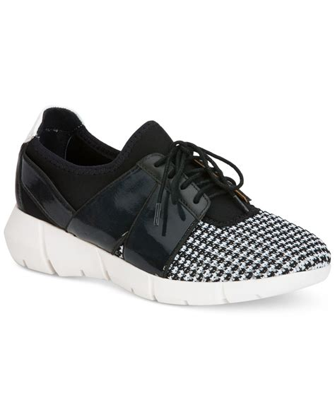 calvin klein sneakers womens lyst calvin klein s wisteria lace up sneakers in black