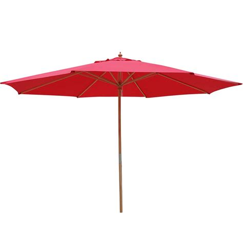 13 Ft Patio Umbrella 13 Ft Patio Wood Umbrella German Wooden Pole Outdoor Cafe Garden Sun Shade Ebay