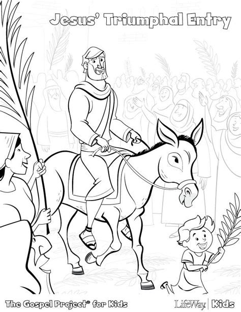 coloring page jesus triumphal entry the triumphal entry coloring page coloring home