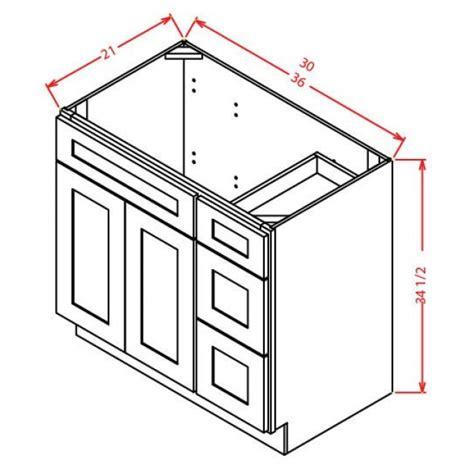 Gray Vanity Base by V3621dr Shaker Gray Vanity Base Rta Rta Bathroom Cabinets