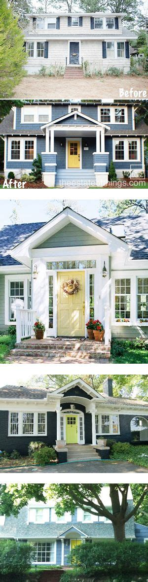 blue house yellow door 33 best images about exterior on pinterest exterior