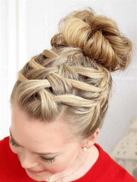 long braids put into a bun 13 hot hairstyles to rock at the gym brit co