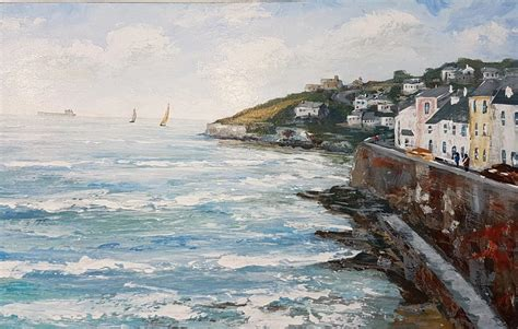 David Gray Finder Meet Our Artists David Gray Paints The Cornish Coast