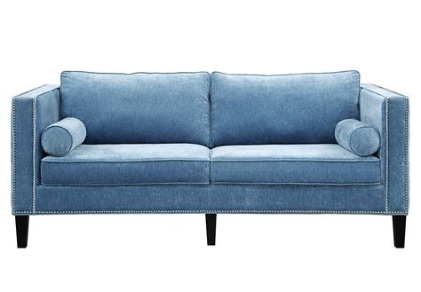 velvet upholstered sofa tov furniture the cooper collection contemporary style
