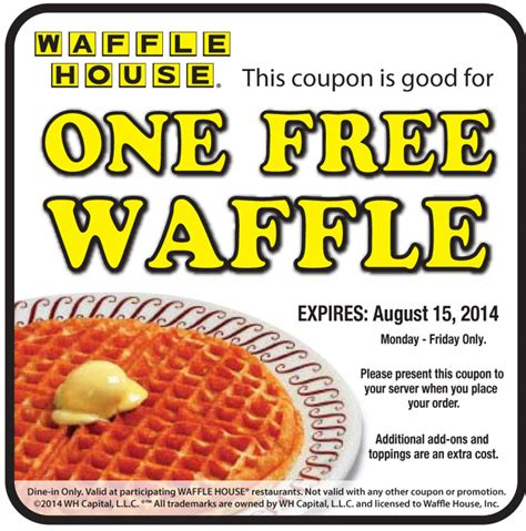 waffle house coupons freebies for july 27th 2014 quot deal quot icious mom