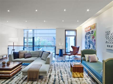 west village townhouse modern living room  york