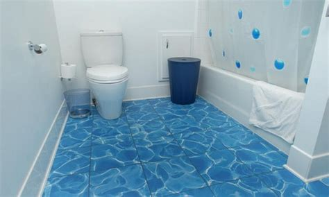 Blue Tile Bathroom Ideas Kitchen Vinyl Tile Flooring Wood Floors
