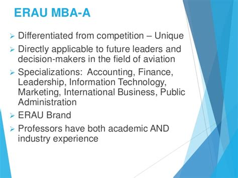 Mba In Aviation by Erau Degree Briefing Bs Technical Management And Mba In