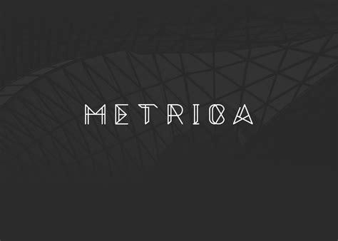 dafont minimalist metrica full font free uppercase on behance