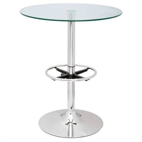 glass top pub table chintaly glass top pub table in chrome pub table 30