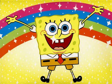 spongebob wallpaper just cute things spongebob with rainbow background spongebob wallpapers