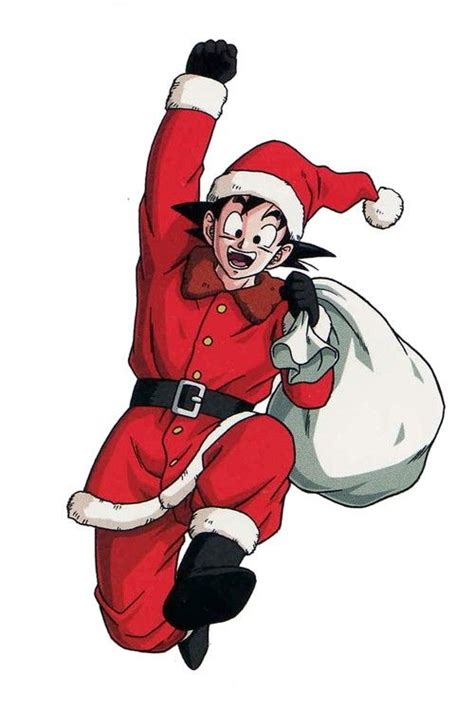 dragon ball z christmas wallpaper goku santa comicbook christmas wallpaper and posters