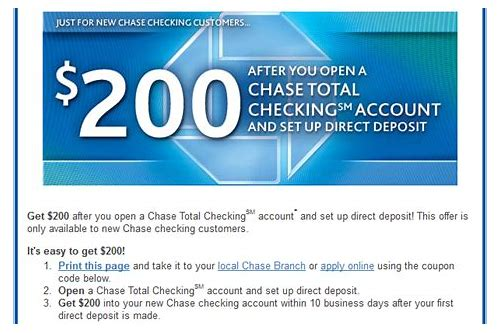 chase bank new account coupon