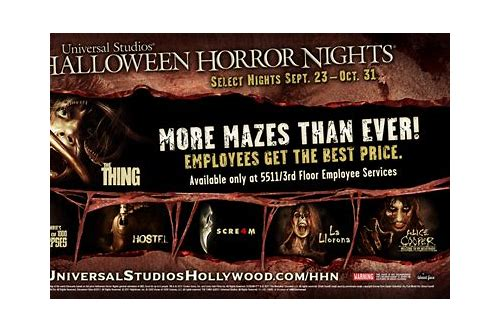 halloween horror nights 2018 hollywood coupons