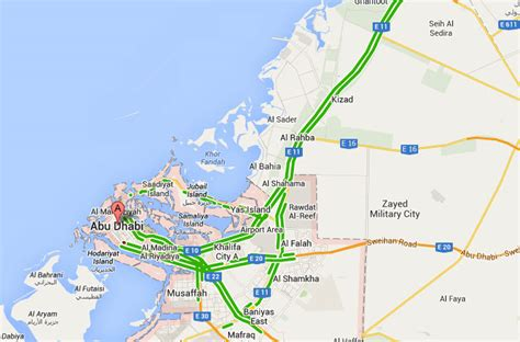 printable abu dhabi road map uae road traffic live on google map google maps uae live
