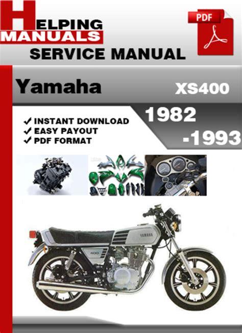 Yamaha Xs400 1982 1993 Service Repair Manual Download