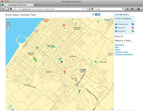 gaza map shual 187 gaza interactive map