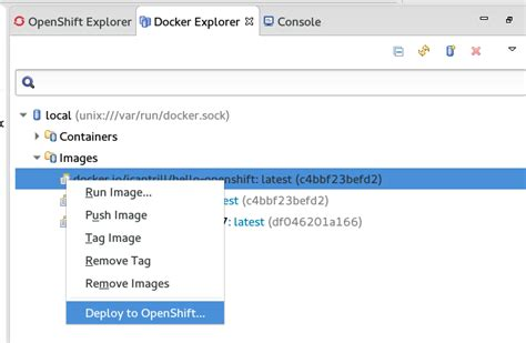 docker jboss tutorial jboss tools openshift