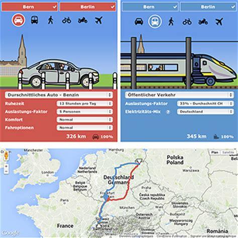 Zug Oder Auto Rechner by Mobile Impact Ist Ein Co2 Rechner Mit Dem Rund Um Die