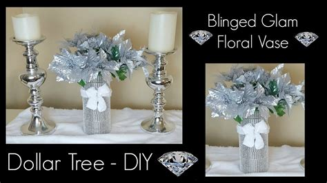 home decor centerpieces diy dollar tree christmas bling vase glam home decor centerpiece craft youtube