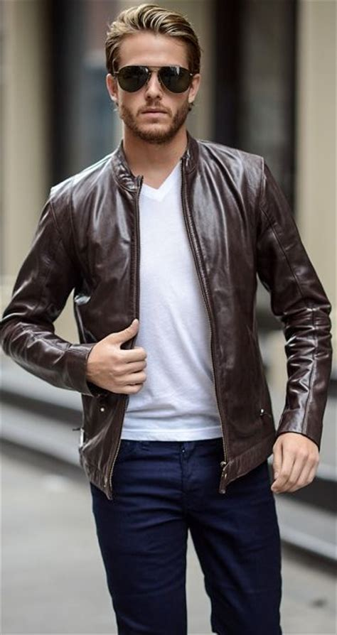 style for guys keep it simple leather jacket menswear tshirt