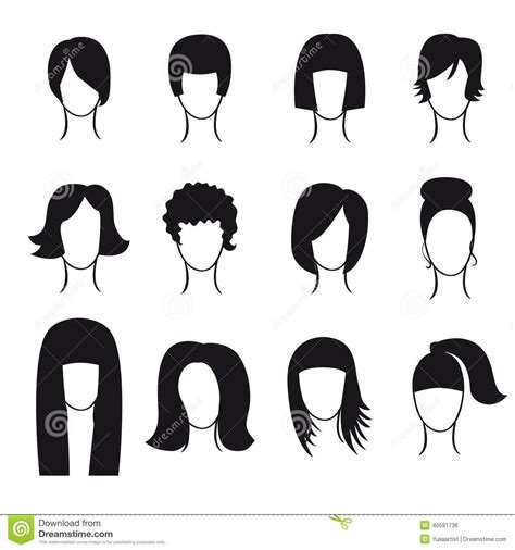 Hairstyle Tools Designs For Silhouette by Vector Set Of Hair Styling Icons Stock Vector Image