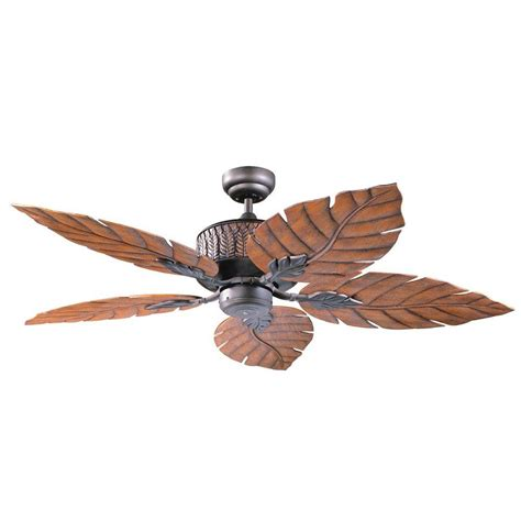 Ceiling Fans With Leaf Shaped Blades by Designers Choice Collection Fern Leaf 52 In Rubbed