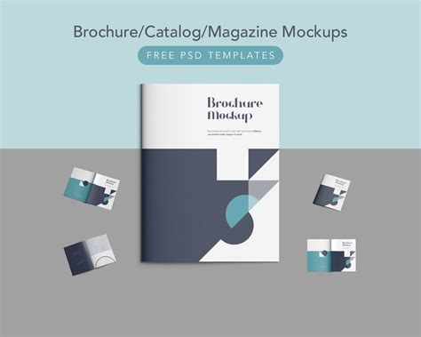 download free brochure catalog magazine mockups free psd