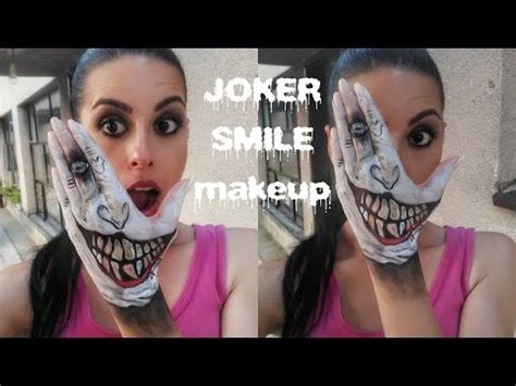 joker tattoo tutorial joker smile makeup tutorial youtube
