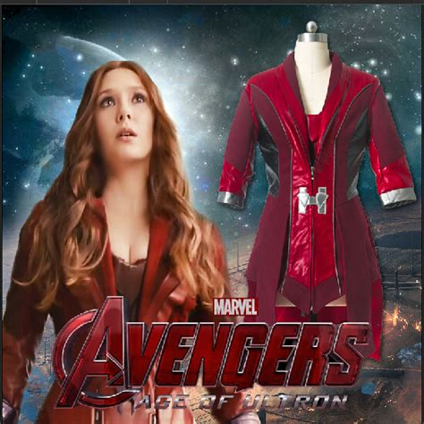 Poster The Age Of Ultron Scarlet Witch Ukuran A3 scarlet witch age of ultron wanda maximoff scarlet witch costume for