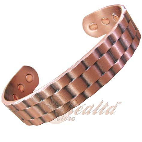 Men's High Strength Copper Magnetic Bracelet Arthritis Pain Relief Bangle M   eBay