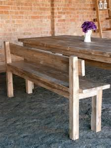 Wooden Kitchen Table With Bench Debdoozle A Tale Of New Chairs Dinning Room In Progress