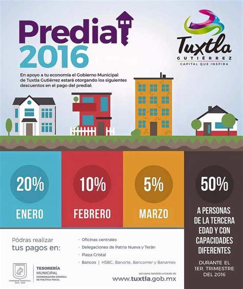 descuentos del predial 2016 slp comunicaci 243 n social de tuxtla guti 233 rrez