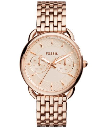 Fossil Women's Tailor Rose Gold Tone Stainless Steel