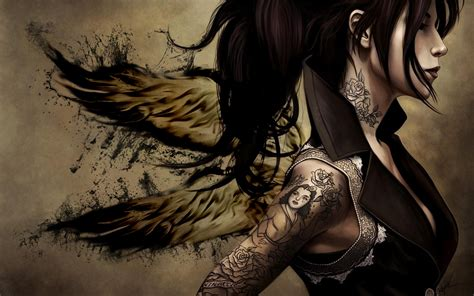 cartoon tattoo girl wallpaper tattoo wings google skins tattoo wings google backgrounds