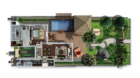 layout view bali villa lagoon villa one bedroom st regis bali