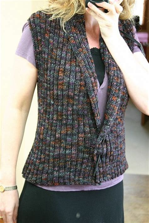 knitting pattern simple vest knit vest vests and super easy on pinterest