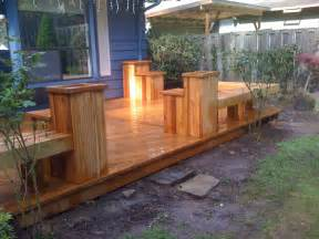 cedar deck w built in planters and benches yelp