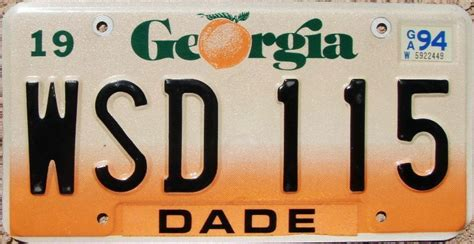 Vanity Plates Ga by Orange Fade Graphic License Plate Ga Ebay